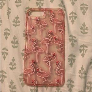 Flamingo silicone iPhone 6s Plus case